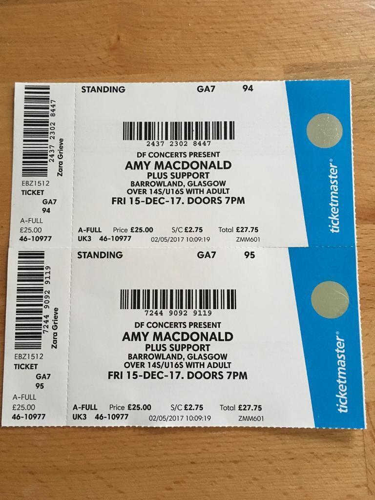 Amy MacDonald - Barrowlands. Swap Friday for Saturday