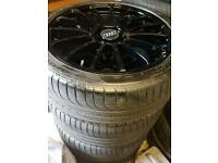 "19"" Audi/ Mercedes Benz CLS style alloy wheels f1 eagle tyres"