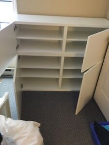 "Ikea ""Besta"" 2 door cabinets with shelves (2 different sizes)"