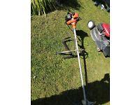 Petrol lawn mower & pettol strimmet