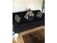 Black cloth sofa in good condition