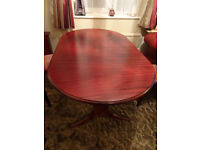 Lovely family wooden dining table. 6 seater, extends to 8 seater. VGC