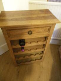 Wine Cabinet, With Drawer, Hardwood
