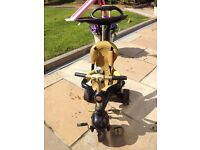 Limited Edition Smart Trike Dream 4-in-1 Touch Steering Trike - Black and Gold