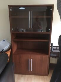Mahogany glass display cabinet in good condition