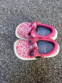 Pink Clark's doodle shoes