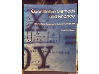 Quantative methods and finance handbook
