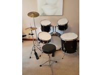 Used beginner's drum kit
