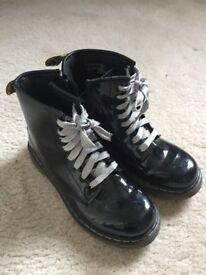 Black Patent Doc Martin boots