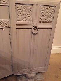 Large vintage sideboard chic grey