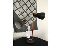 Brand-new Copper/Black Lamp