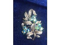 Vintage costume jewellery brooch