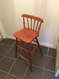 Tall old school chair