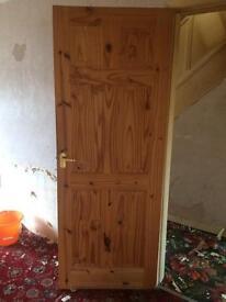 2 solid pine doors