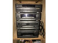 Technics sound system 3 cd multi changer