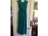 """Stunning kingfisher colour bridesmaid dress. Floor length. UK size 8. Fit 5ft9""""ish, easy to alter"""