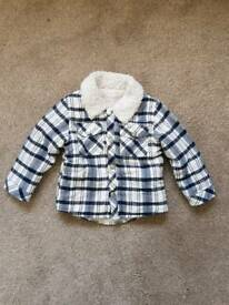 Fleece collar jacket age 6 to 9 months