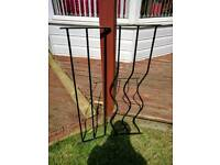 Wrought iron decorative deck railing panels