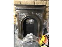 Cast iron fireplace - Celtic cross design
