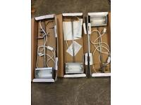 3 flood lamps, hardly used