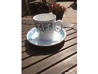 Beautiful retro tea set. Unusual and very attractive design