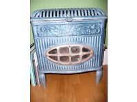 Woodburner. Vintage Decorative French enamel Free standing wood burning Stove fire heater