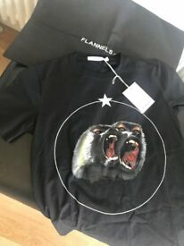 Givenchy Men's Black Screeching Monkey Tshirt - Medium