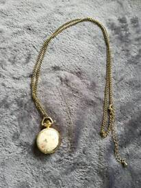 Small watch fashion necklace