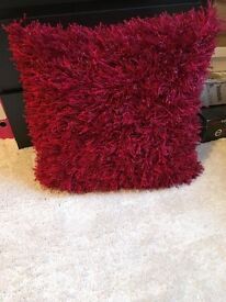 Red sparkle cushion