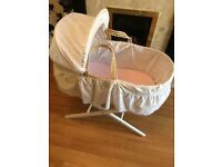 Moses basket with stand *nearly new*