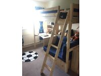 Thuka High sleeper with desk and fold out futon bed