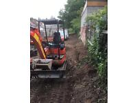 Mini and micro digger hire