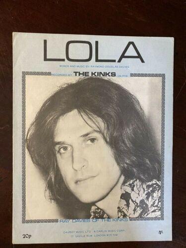"TERRIFIC MINT!  Ray Davies, The Kinks sheet music ""Lola"".  10216"