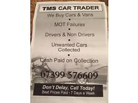 Tms car trader all scrap cars vans 4x4 cash paid today
