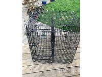 Large heavy duty dog cage for car