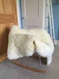2 NEW soft Sheepskins, Scandi style throw or rug