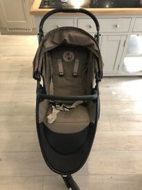 Cybex Eternis M3 Pushchair Stroller with car seat adapters and raincover