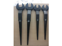 4 x Snail Brand 30mm, 24mm, 2x19mm Open Ended Podger Spanner NEW!!!!!!