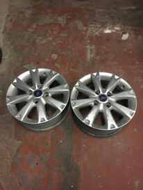"Genuine 15"" Ford 4x100 Genuine Alloy Wheels 6Jx15"""