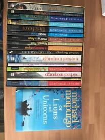 Set of Michael Mopurgo books and one addition book of short storied
