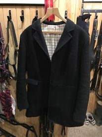 Mears black ladies hunt coat Size 14 38 .