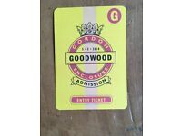 Ticket for Goodwood Races 5th May