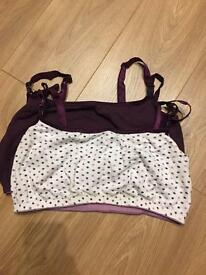 Mothercare breastfeeding bras x2 size 18