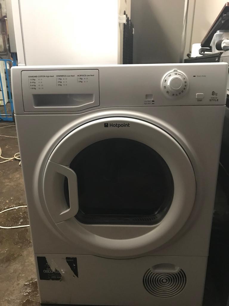 Hot point white tumble dryer 8kg condenser