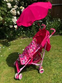 Mothercare foldable pushchair with parasol