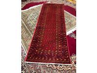 Handmade Persian wool rug runner