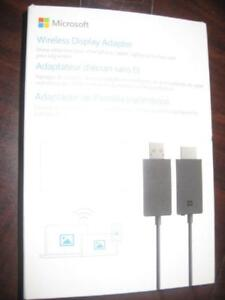 Microsoft wireless Display Adapter. Mirror Surface Laptop Tablet to HDMI TV / Monitor. Miracast. Computer Notebook. NEW