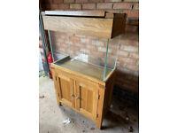 76 cm solid oakwood marine tropical cold water fish tank aquarium setup (delivery installation)