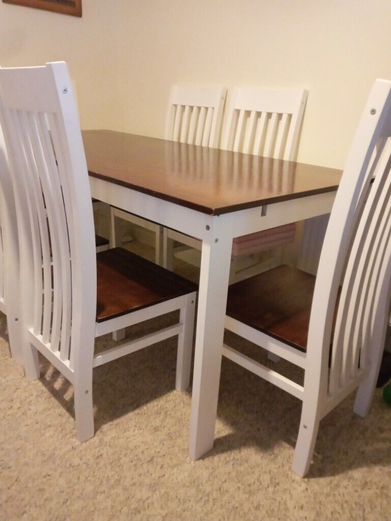 Used Dining Table And 6 Chairs In Torquay Devon Gumtree