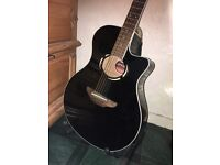 Black Yamaha APX500 BL Electro-acoustic with built-in tuner